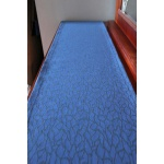 River Ripples 1.8m x 35cm Patterned Fabric Blue Table Runner